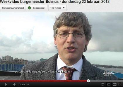 Burgemeester Bolsius van Amersfoort over The Timewriters
