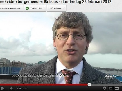 Burgemeester Bolsius van Amersfoort over The Timewriters