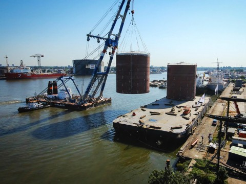 Tanktransport Rotterdam Timelapse