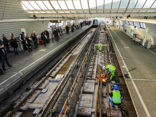 Timelapse spoor-vernieuwing RET metro