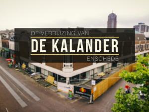 Bouw en sloop timelapse 'De Kalander' Enschede