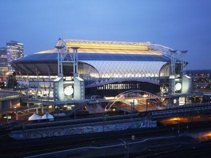 Timelapse uitbreiding Johan Cruijff Arena Amsterdam