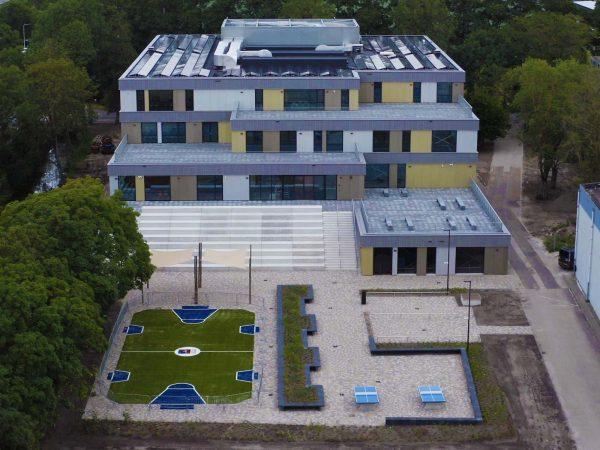 Timelapse nieuwbouw Leonardo College Leiden